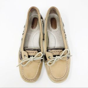 Sperry leopard print boat shoes - 8.5